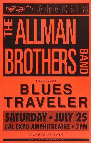 The Allman Brothers Band, Blues Traveler - Cal Expo Amphitheater (Sacramento, CA) Jul 25, 1992