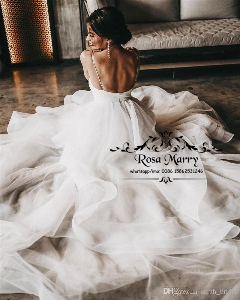 Modest Plus Size Boho Beach Wedding Dresses 2019 A Line Country