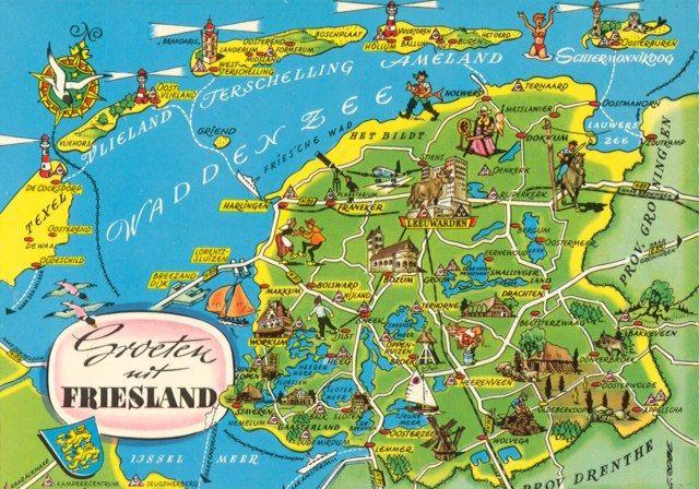 Friesland My Favorite Part Of Holland Ijsselmeer Seekarte