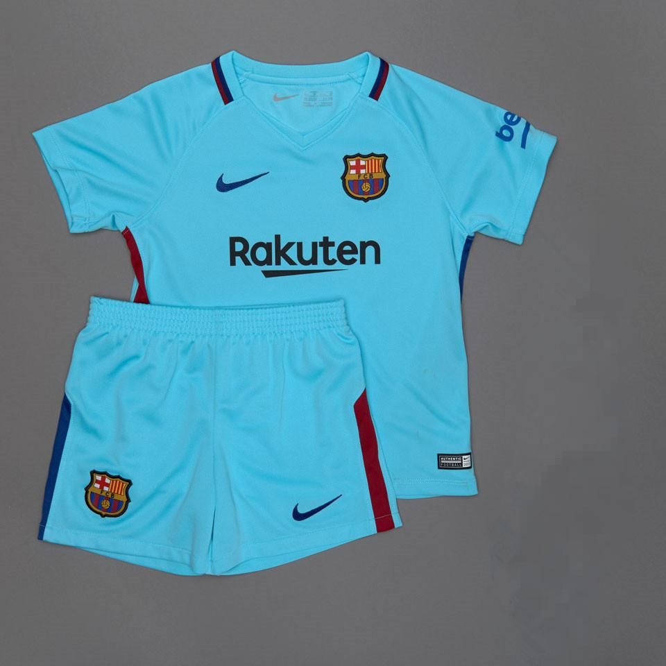 best website d331c 6d7fa Barcelona 2017/18 Away Kids ( Youth) Kit Name and Number ...