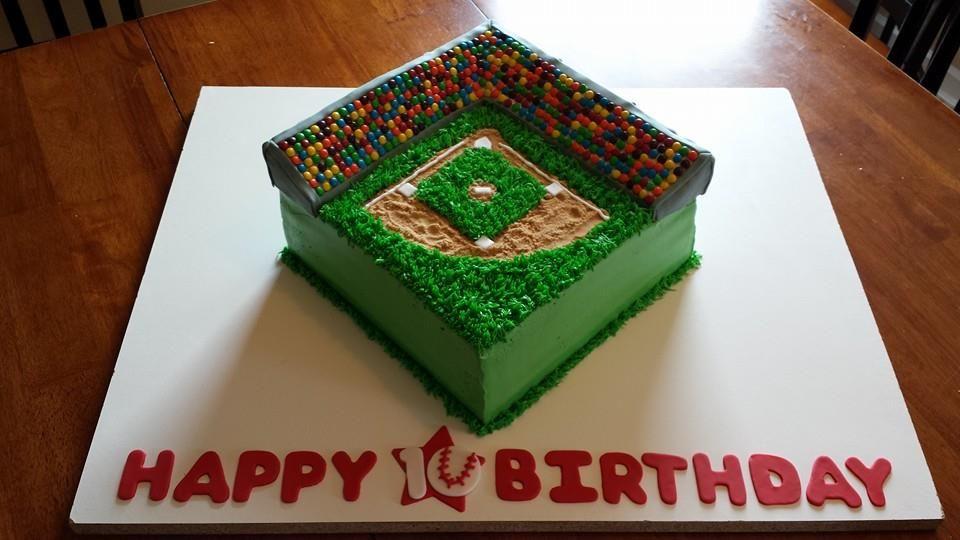 Baseball Stadium Cake Cake Happy 10th Birthday Baseball Stadium