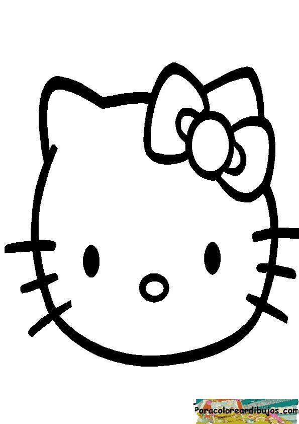 Cara hello kitty para colorear  cosas para dibujar ...