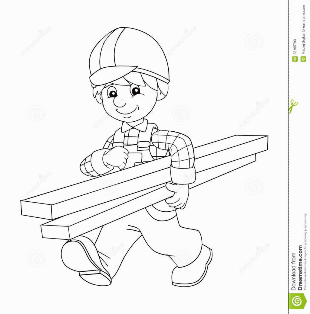 Construction Worker Coloring Page | Coloring Pages | Pinterest ...
