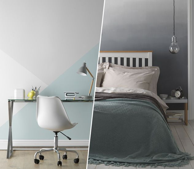 homey inspiration faux finish ideas. Home Inspiration Paint Ideas and effect  Geometric wall in office ombre