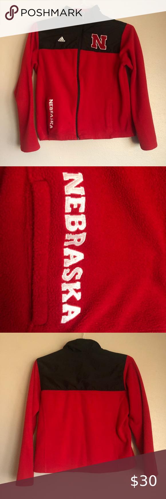Adidas Nebraska Huskers Full Zip Fleece Jacket Fleece Jacket Jackets Red Adidas [ 1740 x 580 Pixel ]