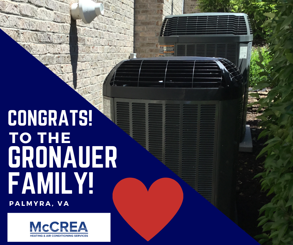 New Air Conditioning for this Virginia Family. Congrats