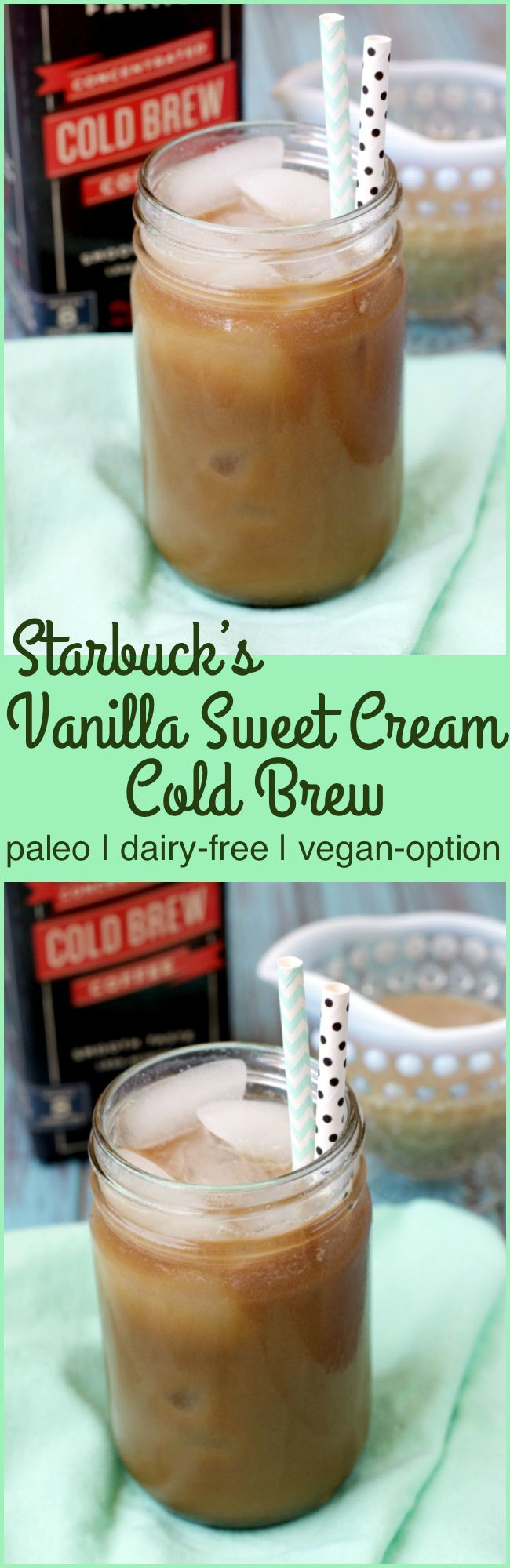 Paleo Starbuck's Vanilla Sweet Cream Cold Brew Recipe