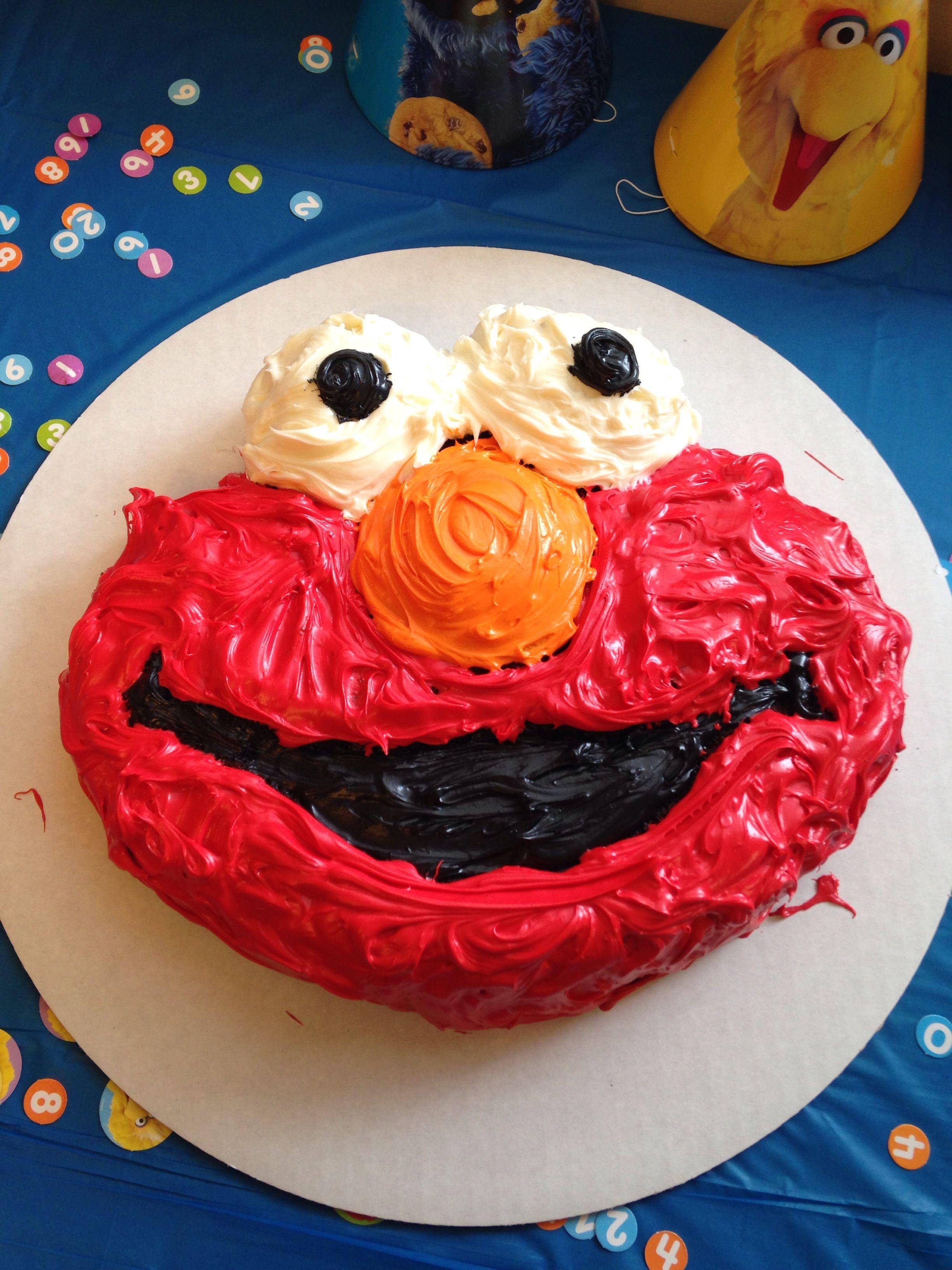 Elmo cake cake pan from hobby lobby very easy to do