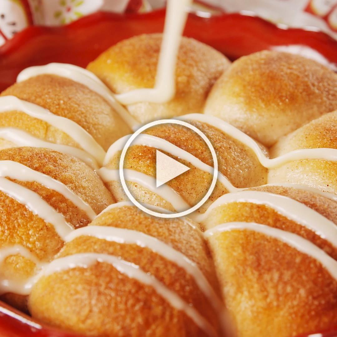The best way to get your caramel apple fix. Get the recipe at Delish.com. #delish #easy #recipe #caramel #apple #fall #homemade #dessert #stuffed #fallrecipe