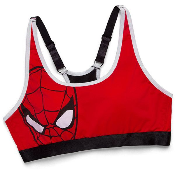 ded6e7e419 Spider-Man Sports Bra ( 15) ❤ liked on Polyvore featuring activewear