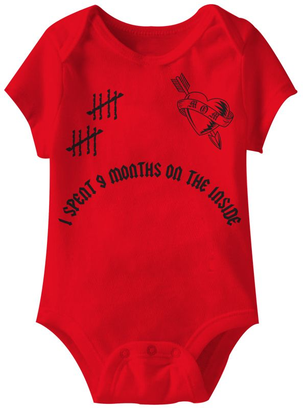 Baby Funny Romper 9 Months Infant Red Babies Creeper | Creepers, Infant and  Baby onesie