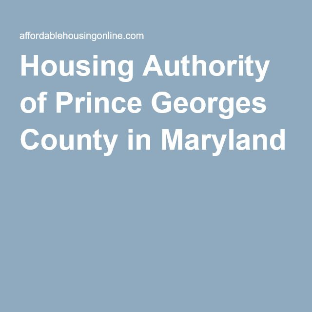 Housing Authority Of Prince Georges County Largo Maryland Prince George George County Georges