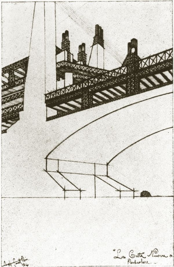 Architectural Drawing by Antonio Sant'Elia