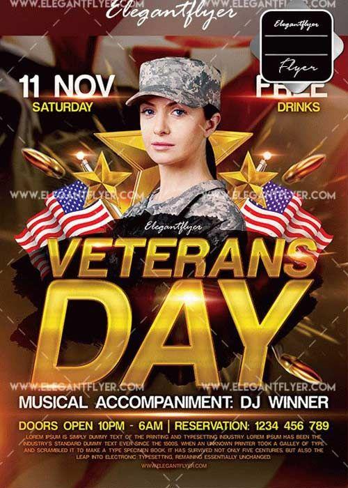 download veterans day v1 2017 flyer template free download