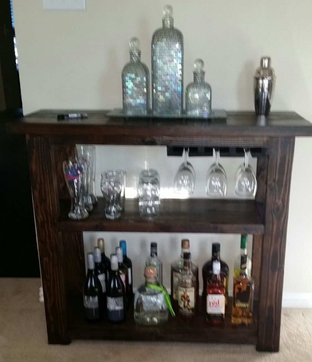 Rustic Dry Bar By Soscustomfurniture On Etsy 299 00