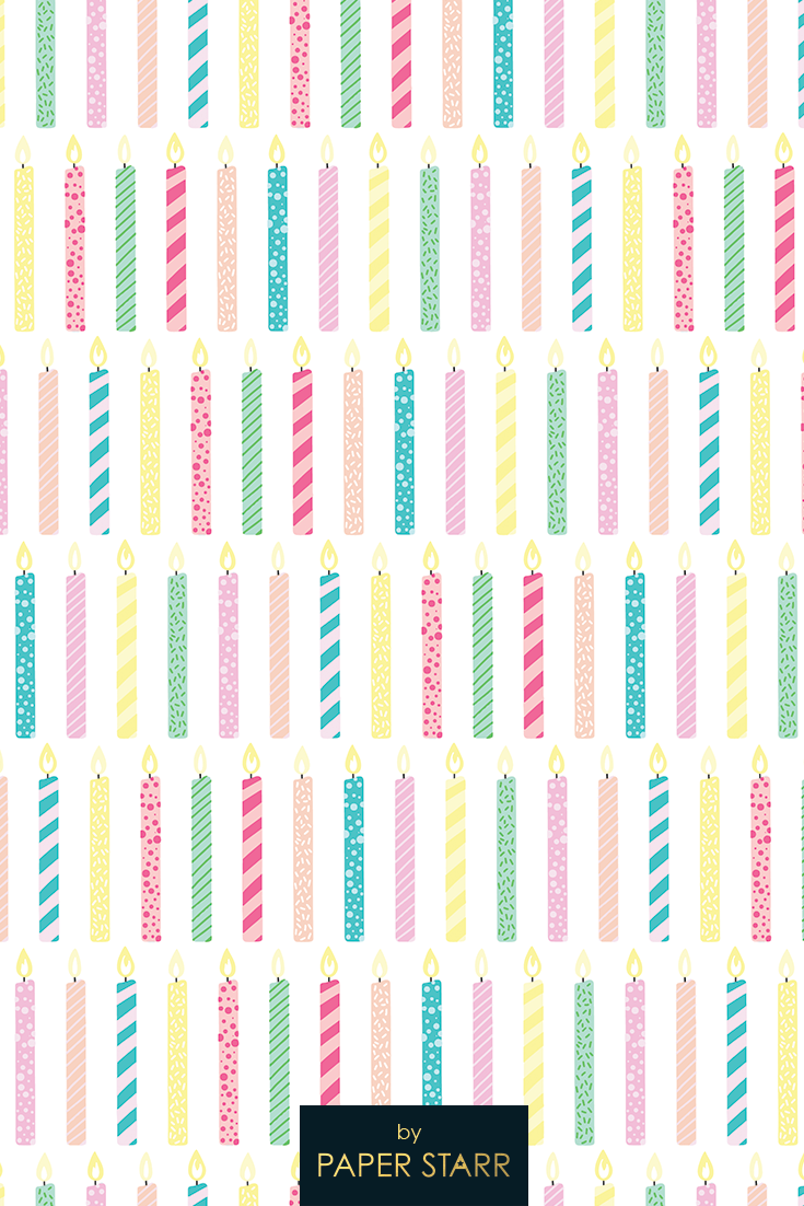 children party- wrapping paper seamless- Background Birthday Digital paper kawaii cake Birthday party patterned paper kid party