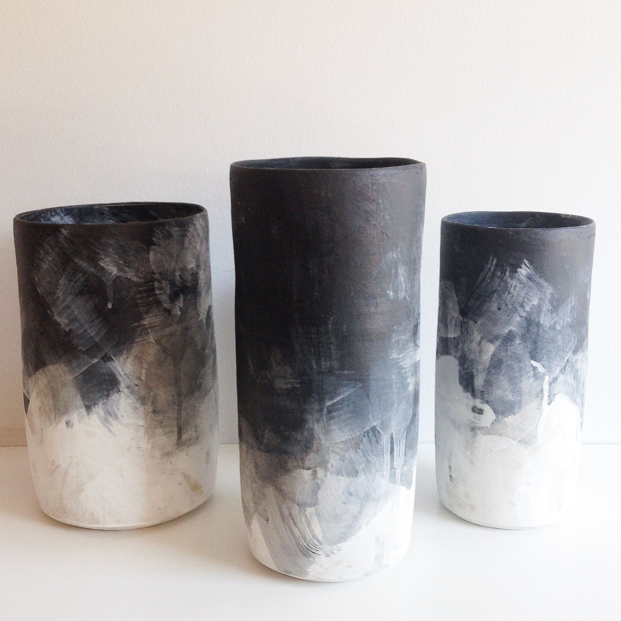 Black white ombre cylinder vases white ombre ombre and stoneware black white ombre cylinder vases reviewsmspy