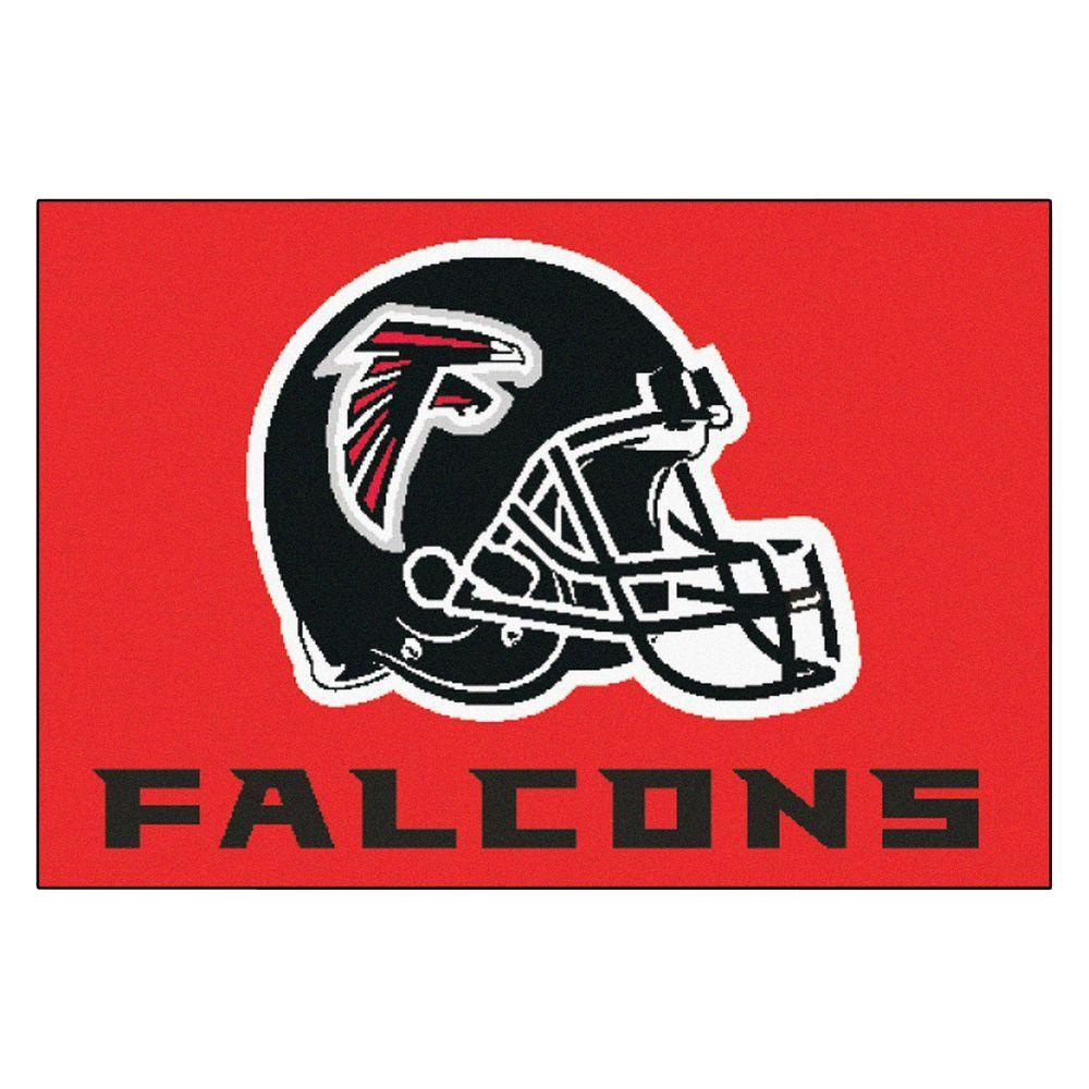 Fanmats Nfl Atlanta Falcons Red 19 In X 30 In Indoor Starter Mat Accent Rug 6119 The Home Depot Atlanta Falcons Star Rug Falcons
