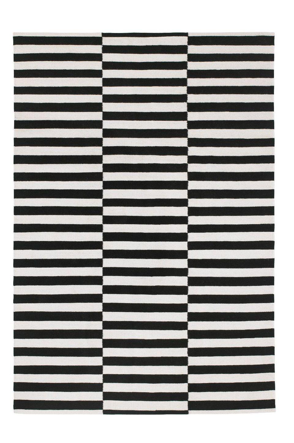 ikea stockholm rand vloerkleed glad geweven 269 250x350 cm zwart ecru. Black Bedroom Furniture Sets. Home Design Ideas