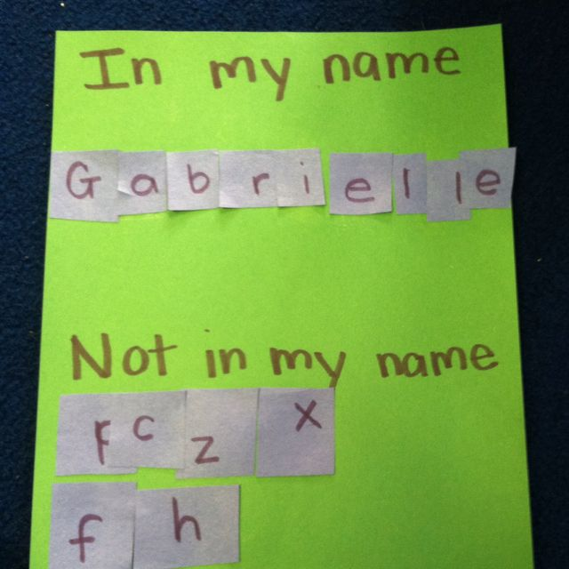 In My NameNot In My Name To Help With Letter Recognition  About