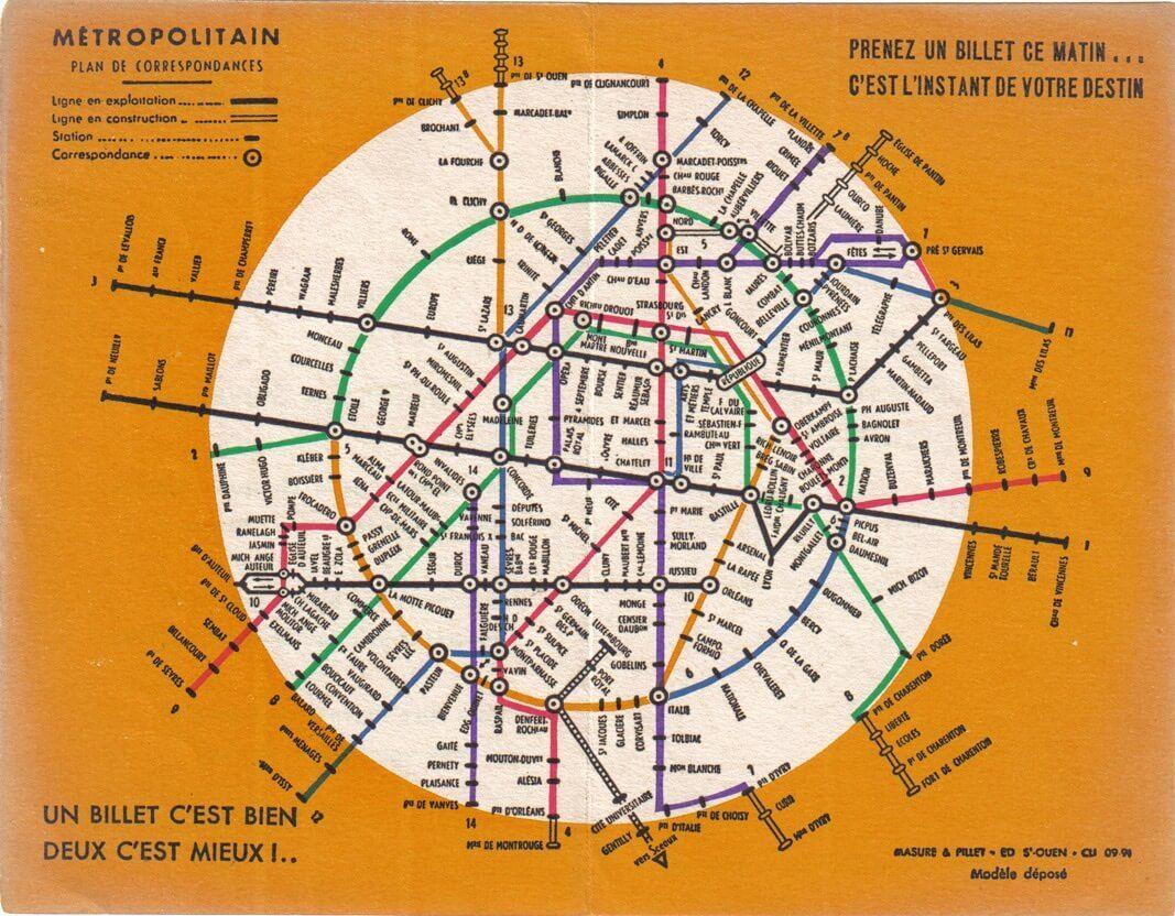 paris metro map the redesign