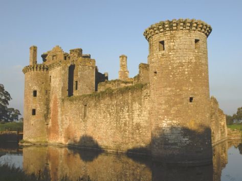 Medieval Stronghold, Caerlaverock Castle Ruin, Dumfries and Galloway, Scotland
