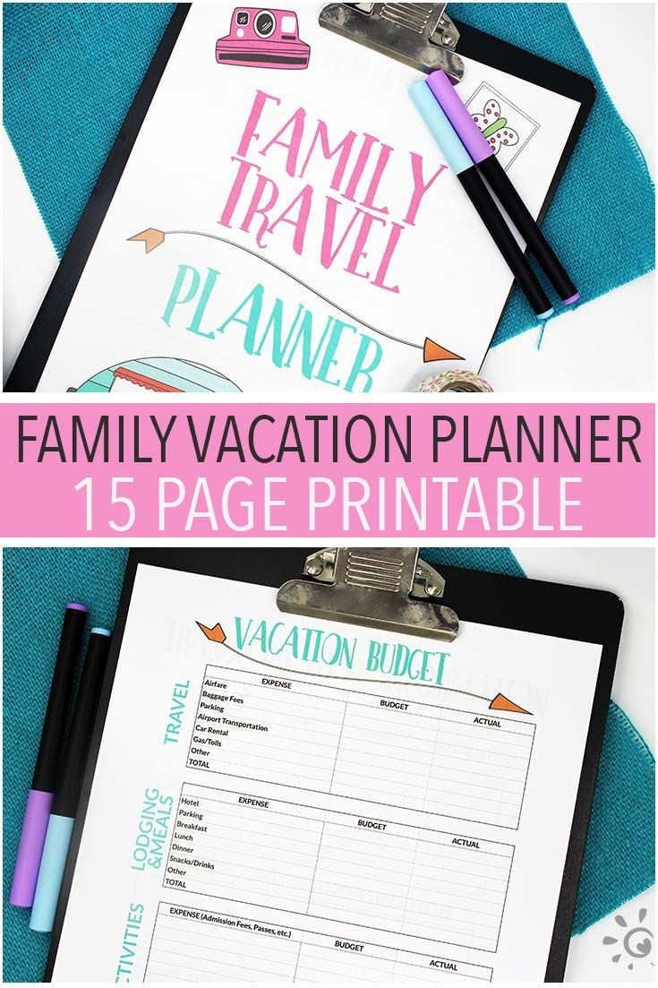 The Ultimate Printable Vacation Planner for Families ...