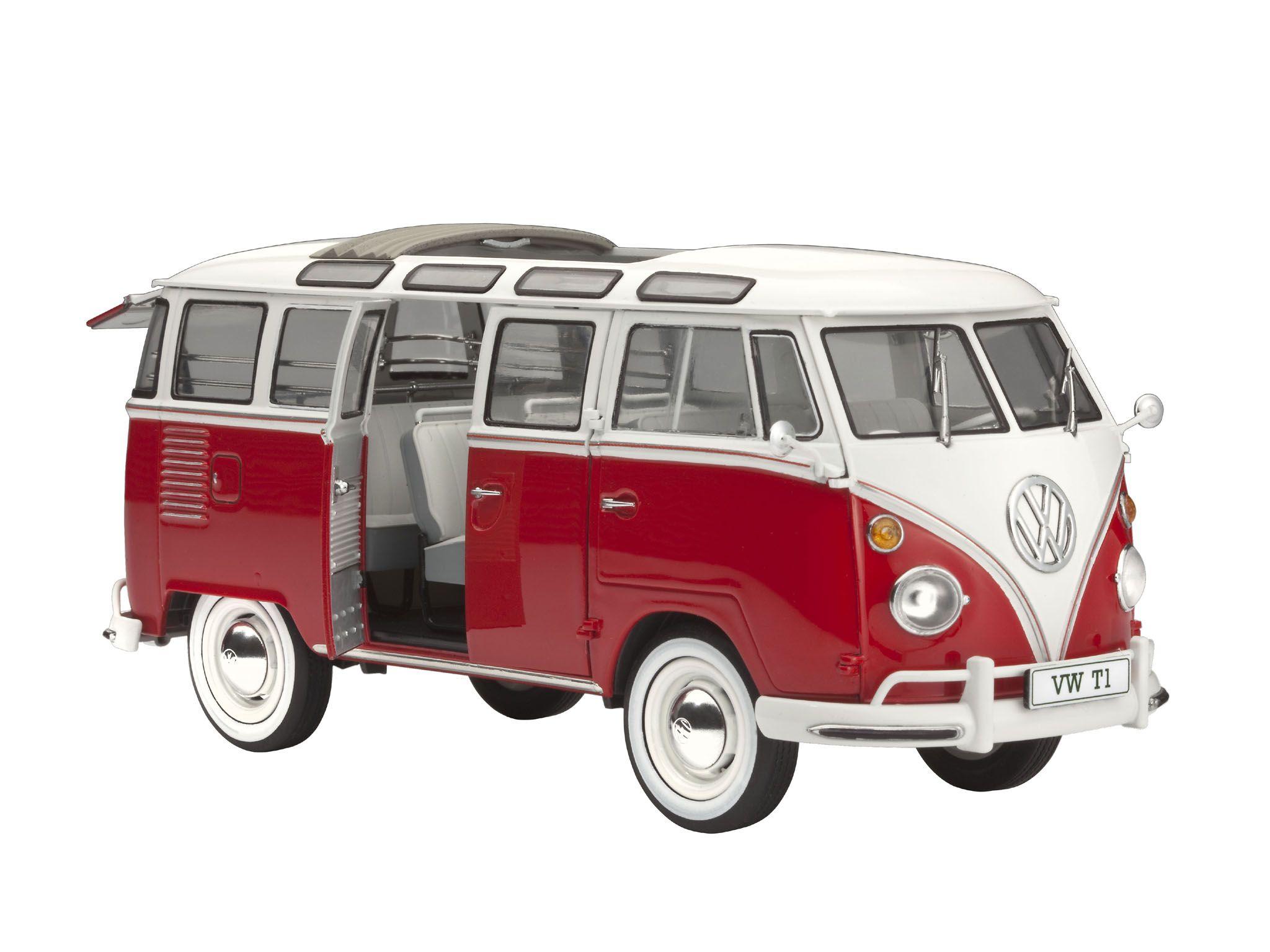 Revell 1 24 Vw T1 Samba Bus Volkswagen Camper Van Model Kit Set