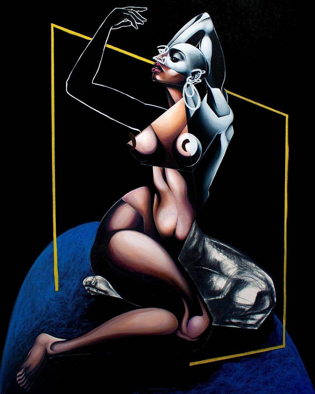 "🎨 #Dopeblackart by @malik.roberts.art ""Untitled Blue Rug"" 2020 By:Malik Roberts Acrylic, Oil , Charcoal, Oil Pastel 36in x 48in #photography #art #blackart #artoftheday#artfeature #artdaily #igart#digitaldrawing #realisticdrawing #pencildrawing #artspotlight #igartist #drawing #coolart #dopeart #blackartwork #artgallery #supportblackart #blackartist #coolartwork #artfido#artlife #artwork #dopeblackartist #dopeblackart #Artistatwork #dopeartistatwork For art subs or any business >>dopebla"