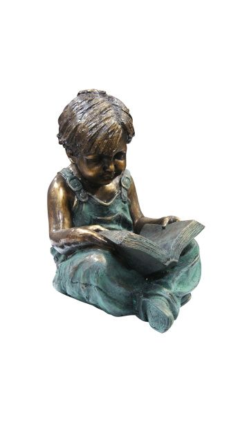 Item Gxt270 The Boy Sitting Down Reading Book Statue Features