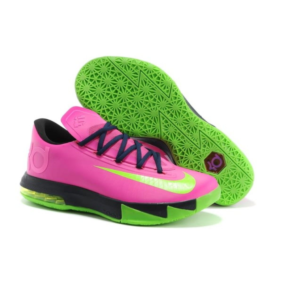 Nike Zoom Kevin Durant\u0027s KD VI N7 Pink/Black/Green Basketball shoes on sale  for USA