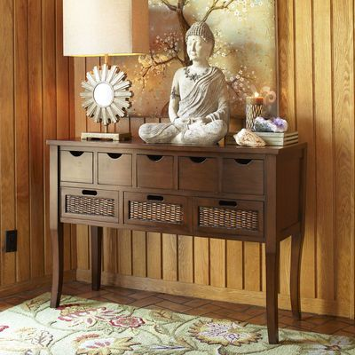 Logan Storage Console Table For Space Near The Stairs Rumah Meja