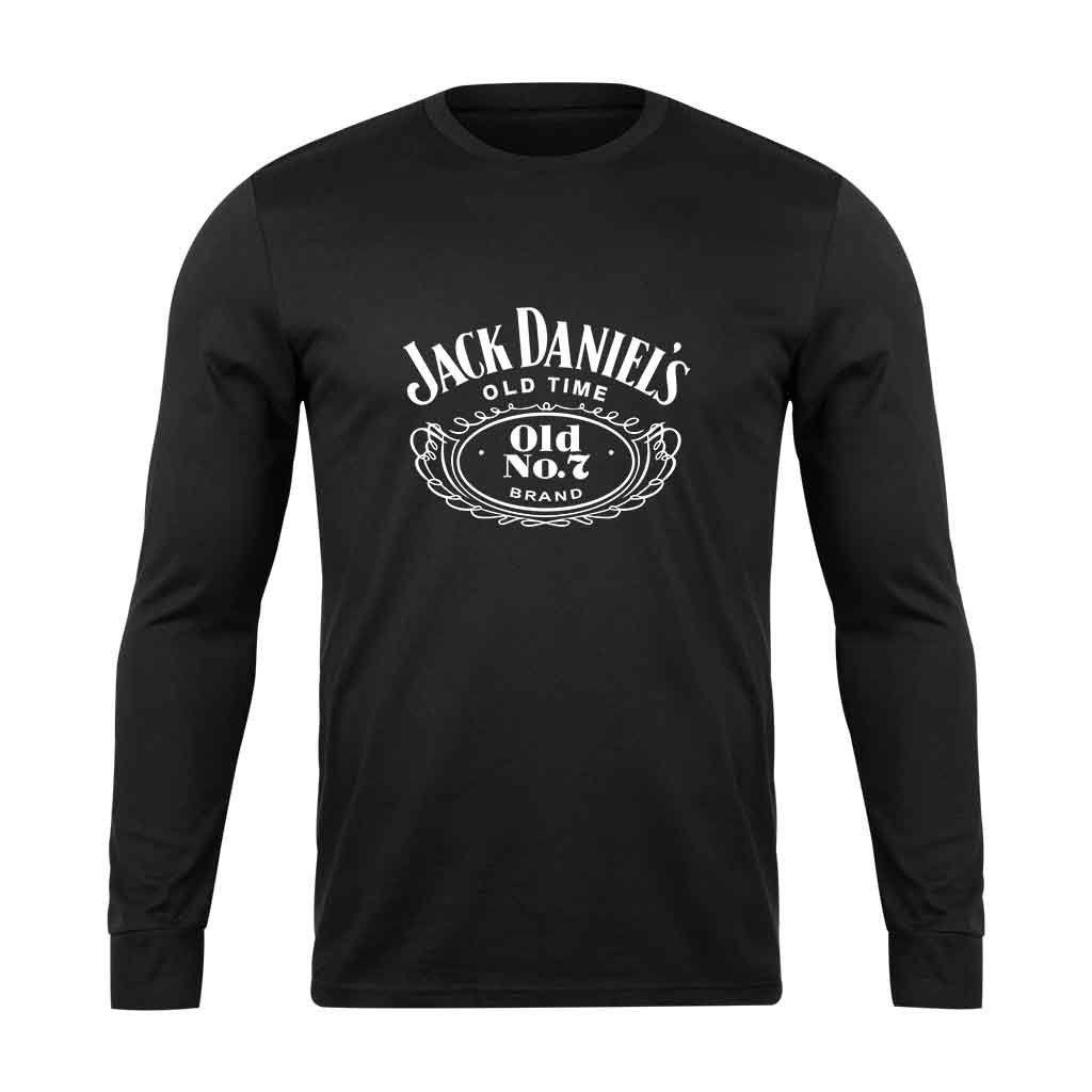 Jack Daniels Old Time Long Sleeve T Shirt Long Sleeve Long Sleeve Tshirt Men Sleeves [ 1024 x 1024 Pixel ]