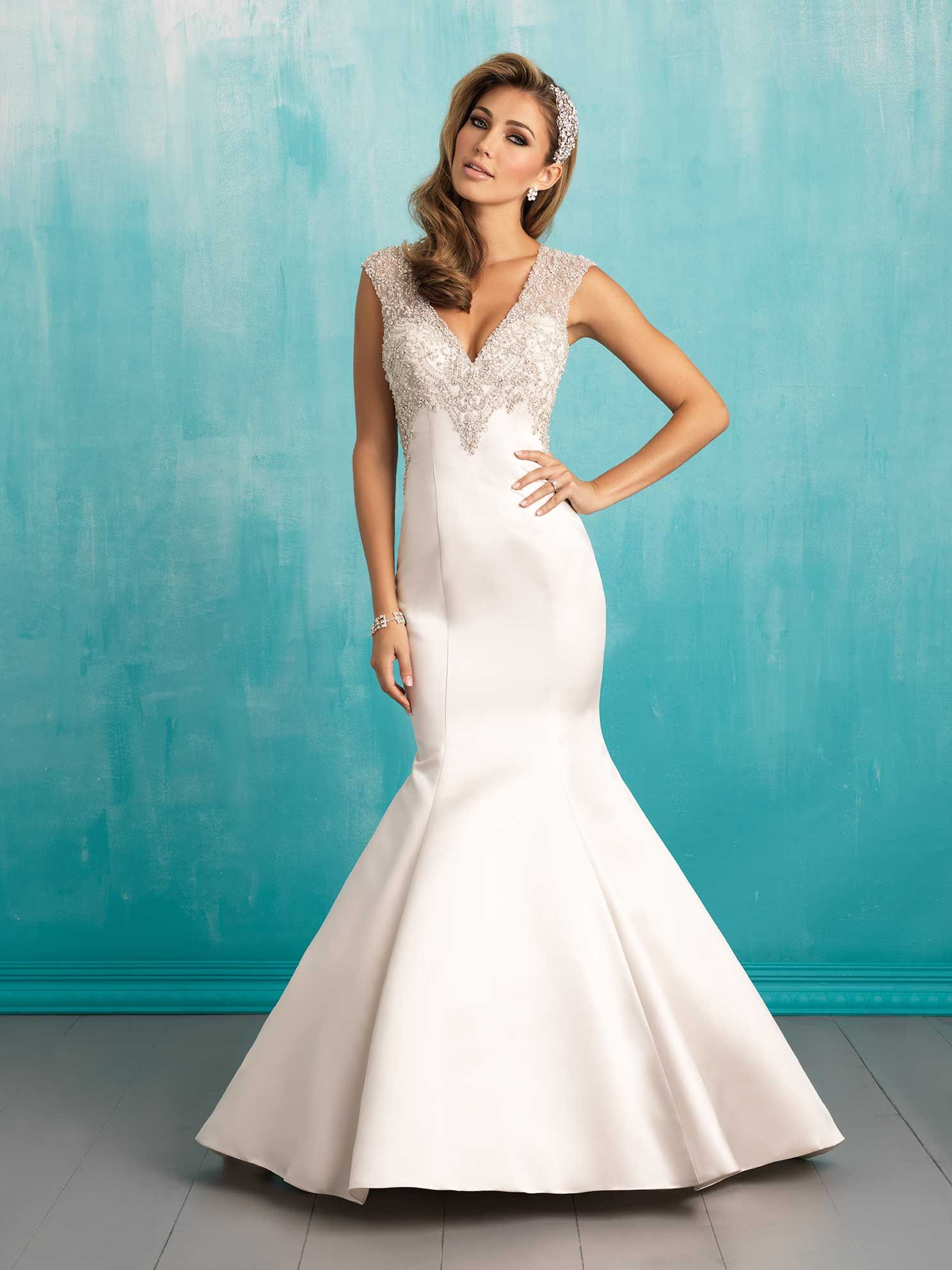Allure style 9306 This fit-and-flare gown holds its shape ...