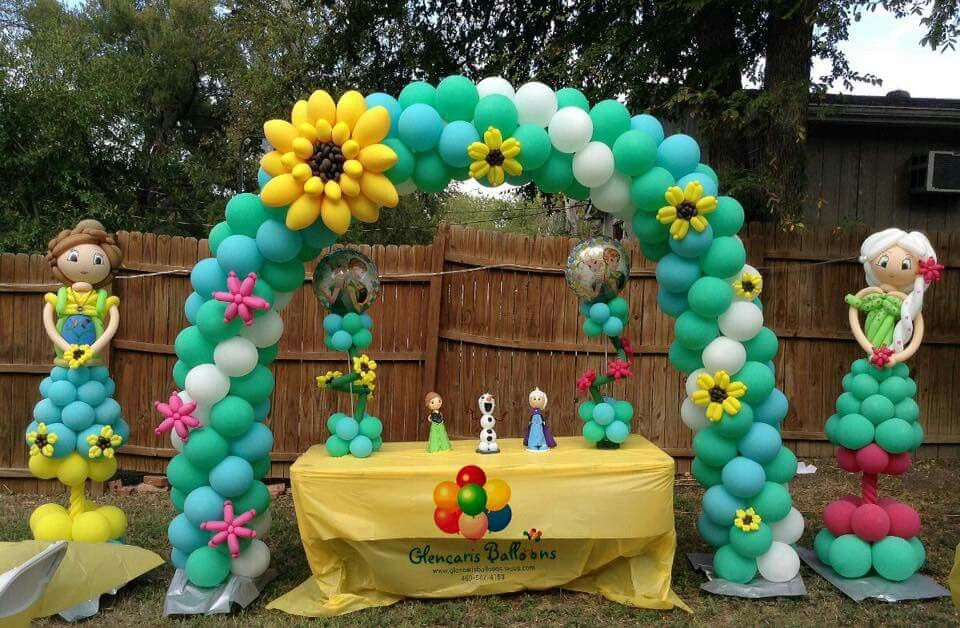 Frozen fever balloon arch decoraciones con globos - Lozano decoraciones ...