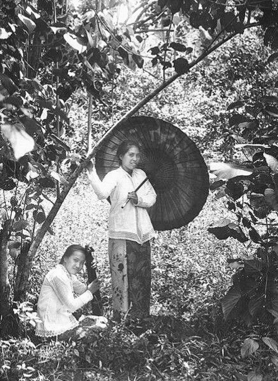 Dua wanita minahasa, Ca;1900 Sejarah, Wanita, Kucing