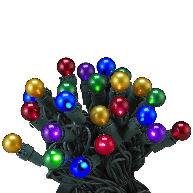 Kurt Adler LED Multi-Colored Pearlized Christmas Light Set - Indoor