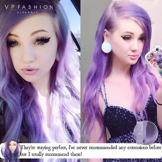 Purpepurple ombre hair colors with dyeable white blonde hair purpepurple ombre hair colors with dyeable white blonde hair extensions 613a pmusecretfo Choice Image