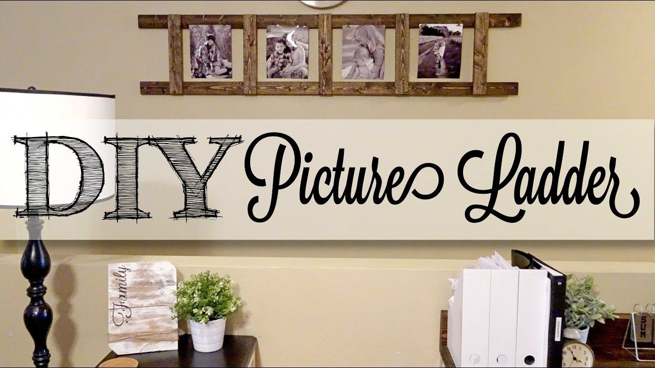 DIY Picture Ladder YouTube Recycled home decor, Diy