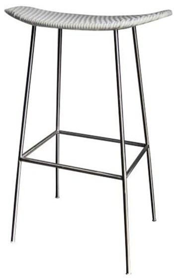 Tremendous Cassidy Wicker Stainless Steel Bar Stool In White Kp Andrewgaddart Wooden Chair Designs For Living Room Andrewgaddartcom