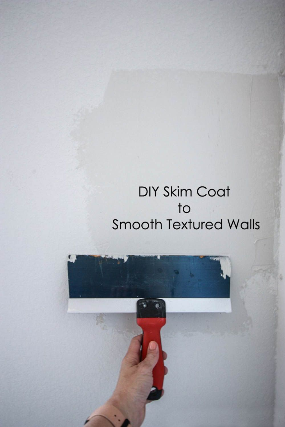 Diy Skim Coat To Smooth Textured Walls Plaster Bathroom Wallpaper Drywall Texture