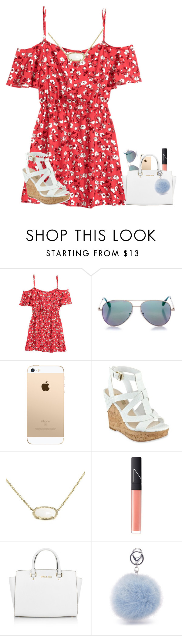 """""""should I do a contest?"""" by texasgirlfashion ❤ liked on Polyvore featuring Cutler and Gross, GUESS, Kendra Scott, NARS Cosmetics and Michael Kors"""