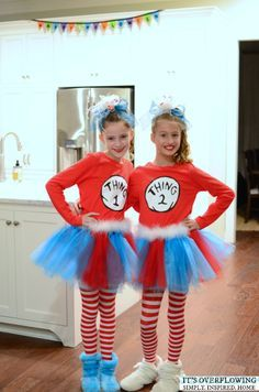 Easy Halloween Costume -- Thing 1 and Thing 2 Tutorial | Ideas for Kids | Pinterest | Easy halloween costumes Easy halloween and Halloween costumes  sc 1 st  Pinterest & Easy Halloween Costume -- Thing 1 and Thing 2 Tutorial | Ideas for ...