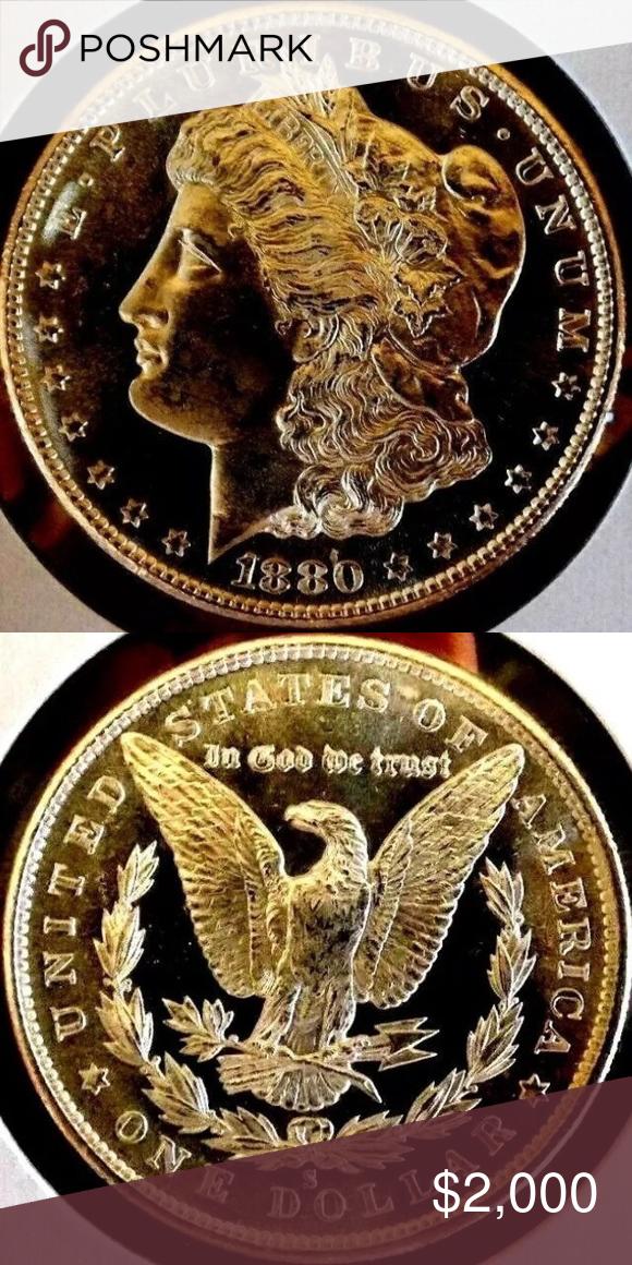 Rare 1880s Near Proof D Cam 3380 Value In 2020 Coin Values Rare Morgan Dollars