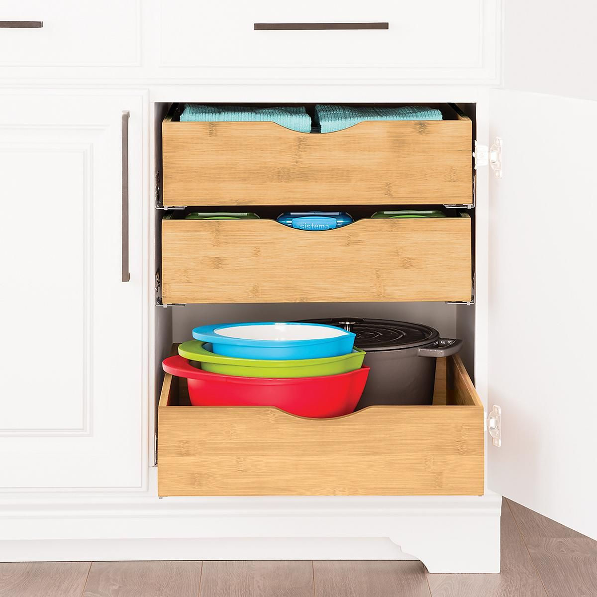 bamboo roll out cabinet drawers cabinet drawers drawers and rh pinterest com roll out cabinet organizer roll out under sink cabinet organizer
