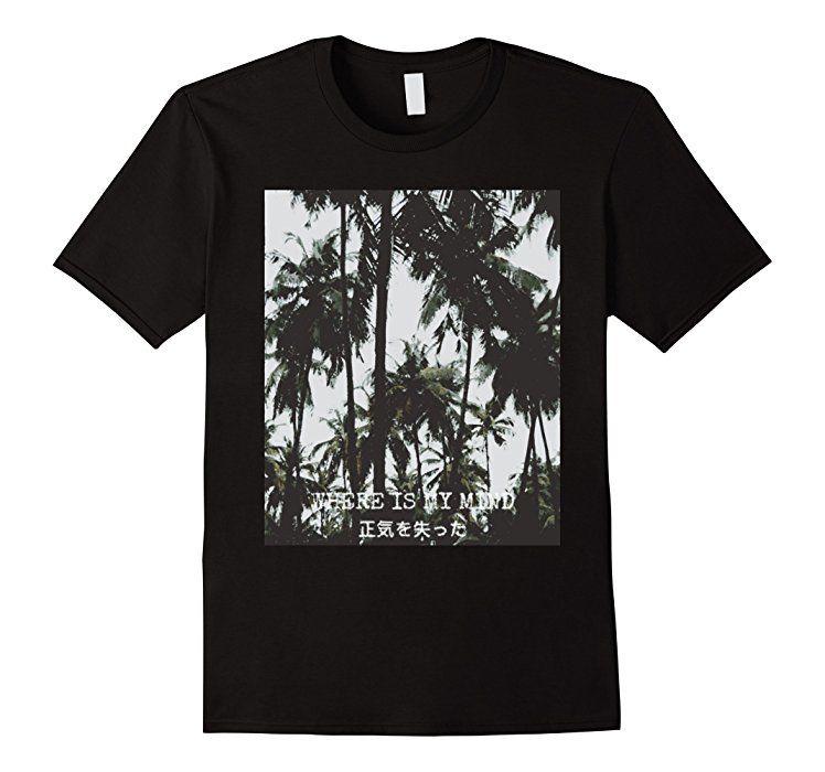 Amazon.com: Mens Aesthetic Vaporwave T-shirt - Where Is My ...