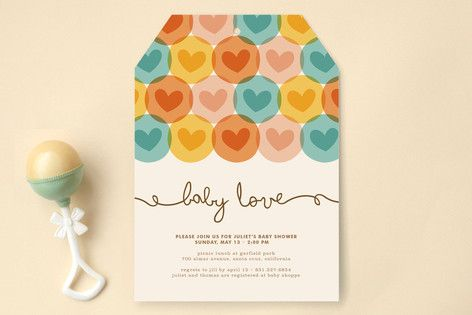 Baby Love Baby Shower Invitations by Waui Design at minted.com