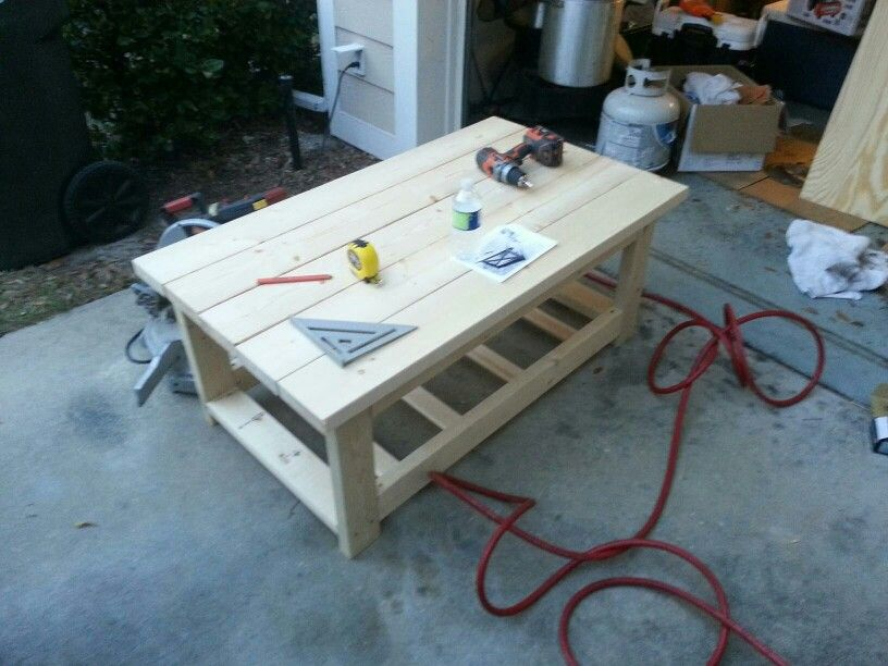 2x6 Coffee Table