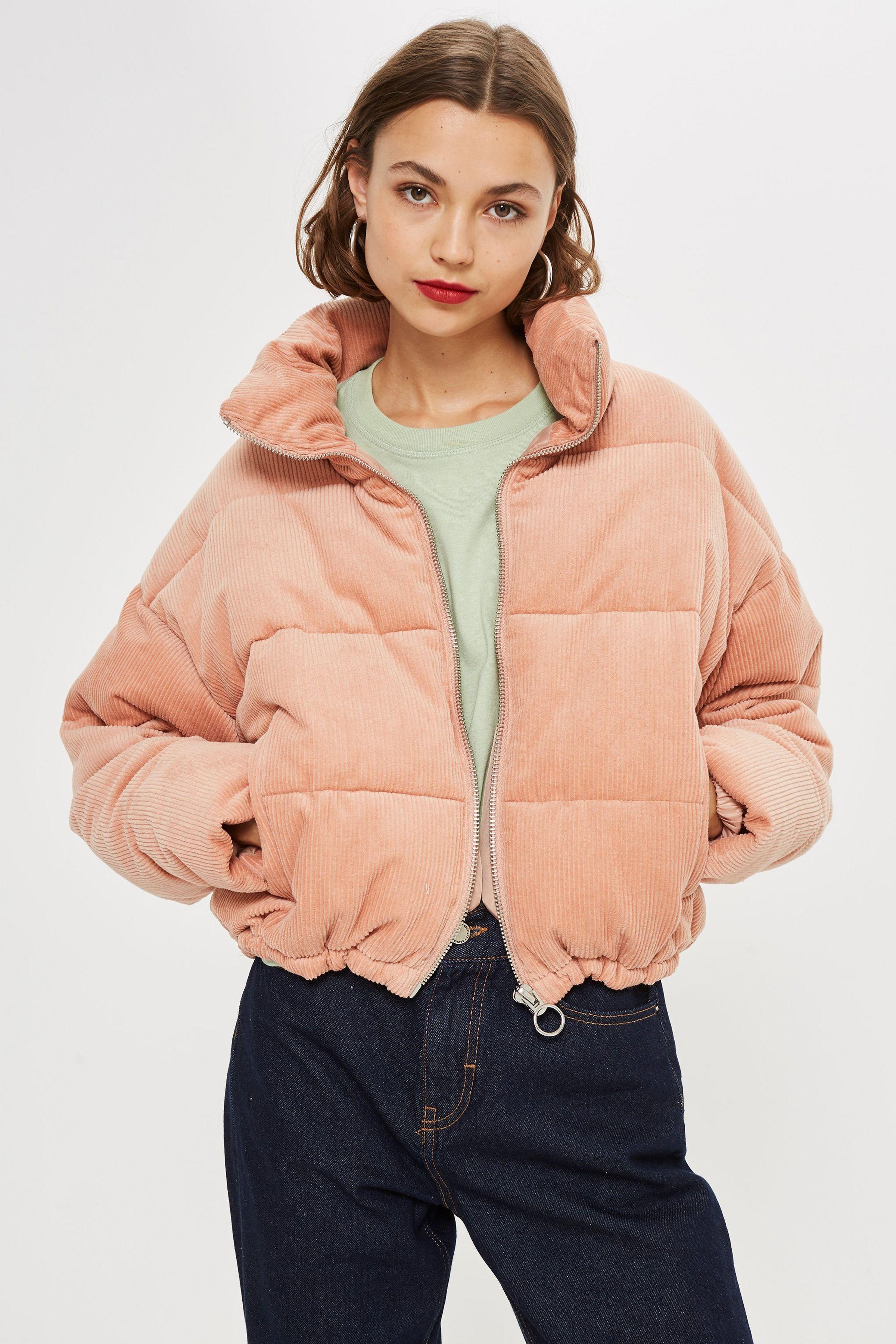 TALL Corduroy Puffer Jacket Puffy jacket outfit, Fashion