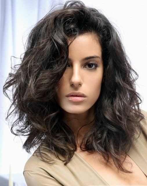 Messy Medium Length Layered Hairstyles With Side Swept Bangs For Wavy Hair Jpg 507 641 Pixels Haircuts For Medium Hair Medium Hair Styles Medium Layered Hair